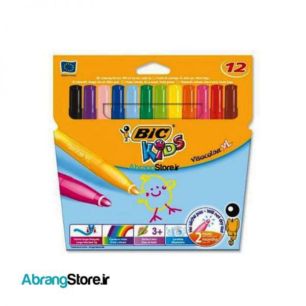 ماژیک ویزاکالر بیک ضخیم 12 رنگ