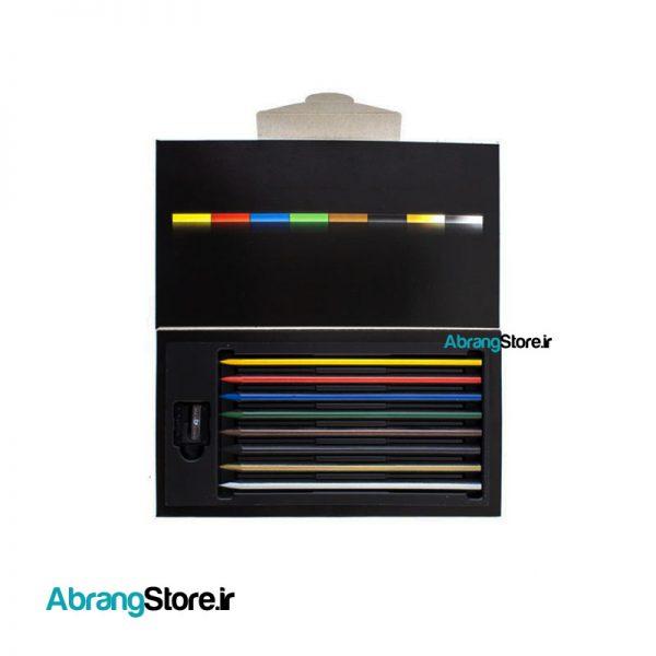 مدادرنگی کالراسترایپ لیرا 8 رنگ به همراه تراش | LYRA Colorstripe Colored Pencil
