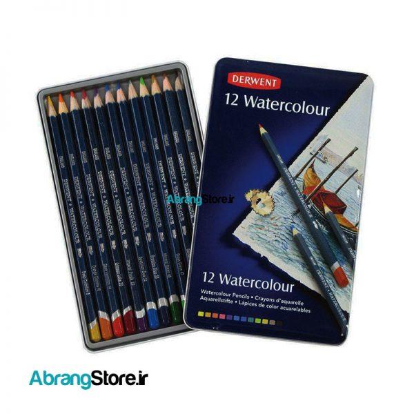 مدادرنگی آبرنگی آرتیست درونت 12 رنگ | Derwent Watercolour Pencils
