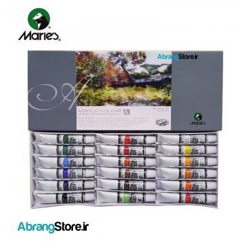 رنگ اکریلیک ماریس ۱۸ رنگ ۱۲ میل | Marie's Acrylic