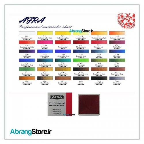 آبرنگ افرا قرص متوسط تک در ۳۶ رنگ