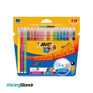 ماژیک کیدکالر بیک ۱۸ رنگ | BIC Kid couleur