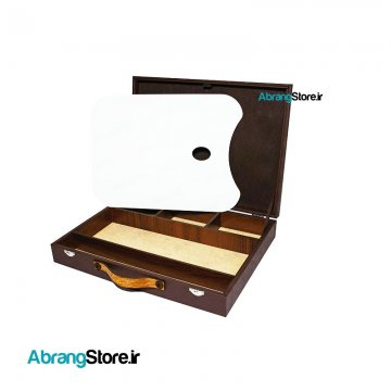 جعبه رنگ چوبی تک طبقه به همراه پالت چوبی   طرح جدید