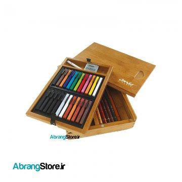 ست آرتیست ۳۰ تکه کنته پاریس جعبه چوبی | Conte a Paris Artist Wooden Box