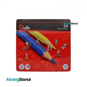 مدادرنگی کویلو ۲۴ رنگ جعبه فلزی
