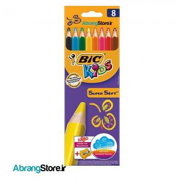 مدادرنگی سوپرسافت بیک ۸ رنگ | BIC SuperSoft