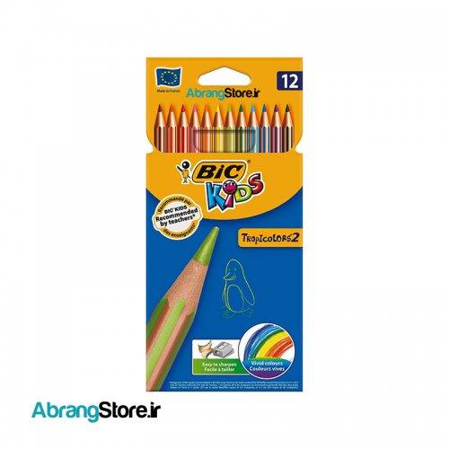 مدادرنگی تراپی کالر ۲ بیک ۱۲ رنگ | BIC TropiColor's2