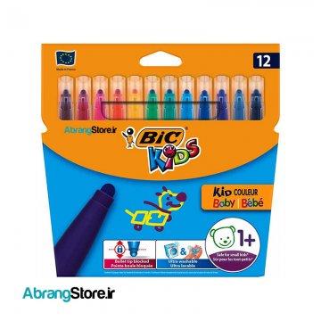 ماژیک کیدکالر کودکانه بیک ۱۲ رنگ | KiD couleur baby