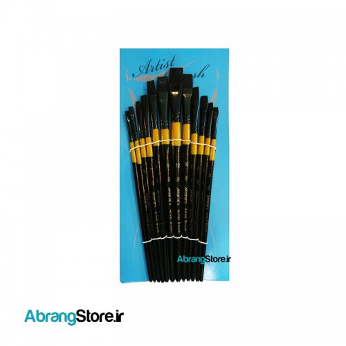 ست قلم مو ماریس سرتخت مو مشکی - ۱۲ عددی