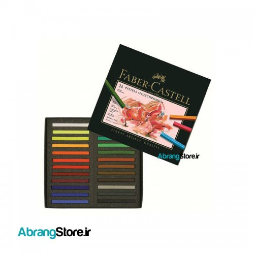 پاستل گچی پلی کروموس فابرکاستل ۲۴ رنگ | Fabercastell Pastel crayon Polychromos 1
