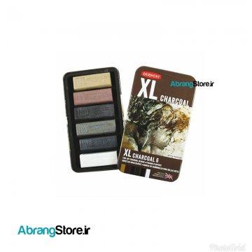 زغال فشرده XL درونت ۶ رنگ | XL Charcoal Blocks