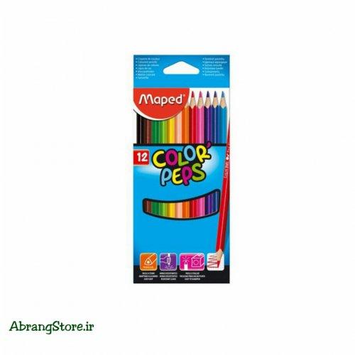 مدادرنگی مپد ۱۲ رنگ جعبه مقوایی