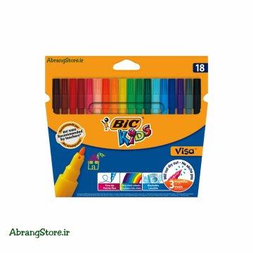 ماژیک بیک ویزا ۱۸ رنگ | BIC Kids Visa