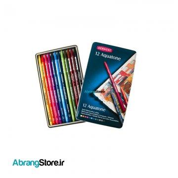 پاستل آبرنگی آکواتون درونت ۱۲ رنگ |Derwent Aquatone Tin Solid Watersoluble Sticks