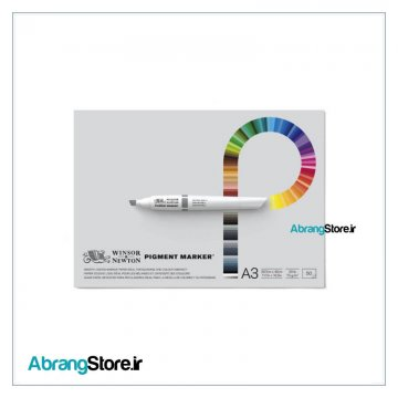 دفتر ماژیک وینزور 50 برگ | Winsor Pigment Marker Pad A3