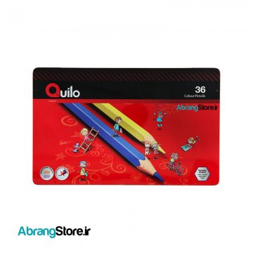 مدادرنگی کویلو 36 رنگ جعبه فلزی