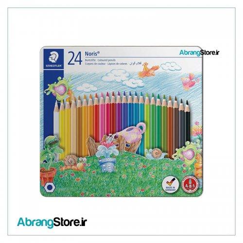 مدادرنگی نوریس استدلر 24 رنگ جعبه فلزی