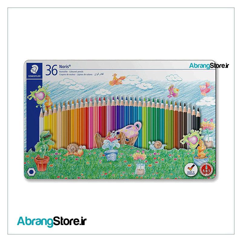 مدادرنگی نوریس استدلر 36 رنگ جعبه فلزی