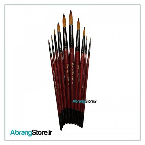 ست قلم مو سرگرد پارس آرت سری 55549