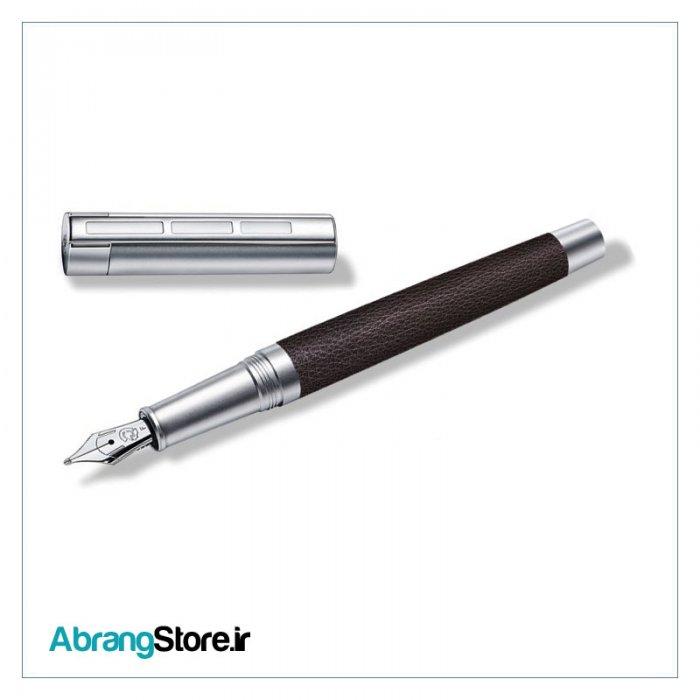 خودنویس کوریوم سیمپلکس چرمی قهوه ای استدلر | Corium Simplex Fountain Pen